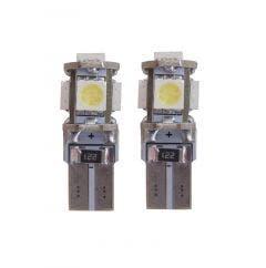 5 SMD CANBUS LED W5W T10 Blauw - 10.000k