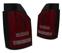 VW T5 10-15 LED achterlicht units met dynamisch knipperlicht Red Smoke