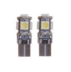 5 SMD CANBUS LED W5W T10 Wit