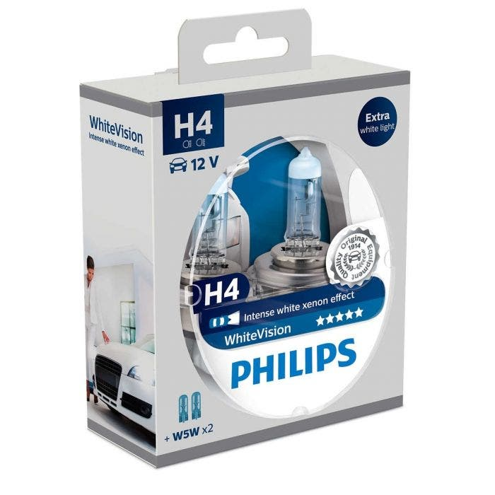 Philips WhiteVision Set H4 incl 2 W5W