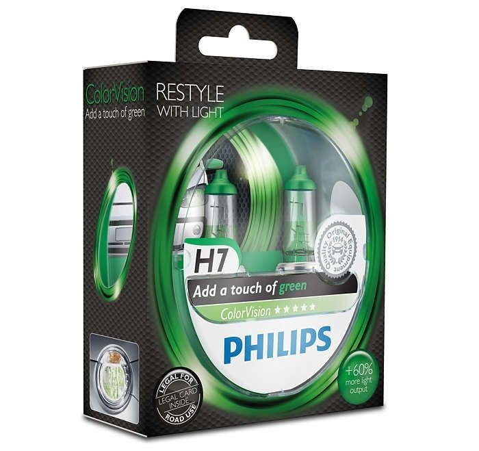 Philips-12V-ColorVision-Groen-H7