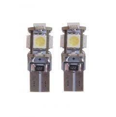 5 SMD CANBUS LED Stadslicht W5W T10 Wit / Blauw - 6000k