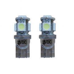 Xenon Look 5 SMD LED stadslicht W5W T10 - blauw