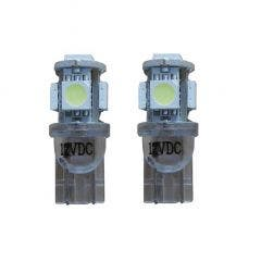 Xenon Look 5 SMD LED W5W T10 - wit