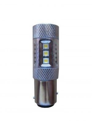 Dagrijverlichting Canbus LED vervangingslampen - BAY15d - wit