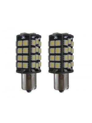 48 SMD Canbus LED Dagrijverlichting vervangingslampen BAY15d wit
