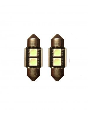 2 SMD Canbus LED binnenverlichting 31mm - groen