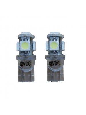 5 SMD LED Knipperlicht W5W - blauw