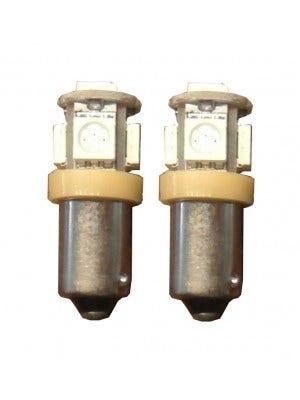 5 SMD LED Knipperlicht BAX9s oranje