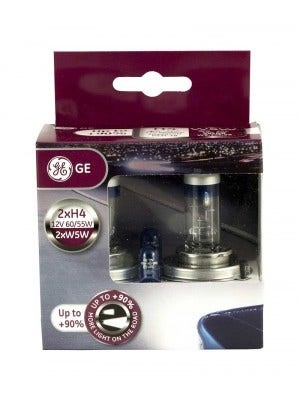 GE Halogeen Megalight Ultra +90 met set W5W Blue - H4 set