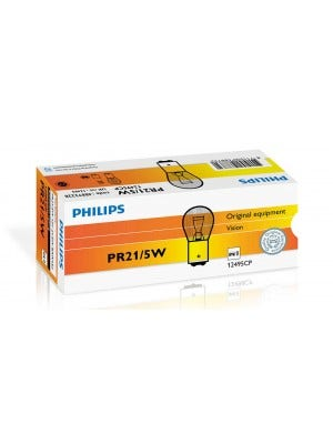 Philips-12v-PR21-5W-Rood-12495CP