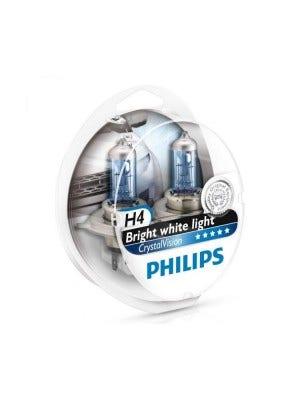 Philips Crystal Vision H4 + W5W Stadslicht