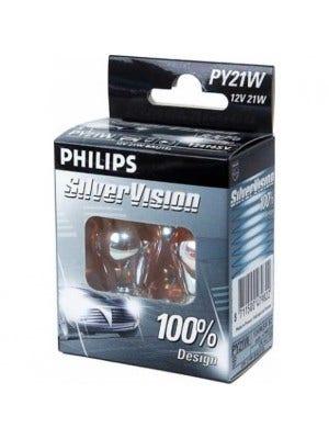 Philips SilverVision signaallamp motor 12v BAU15s / PY21W
