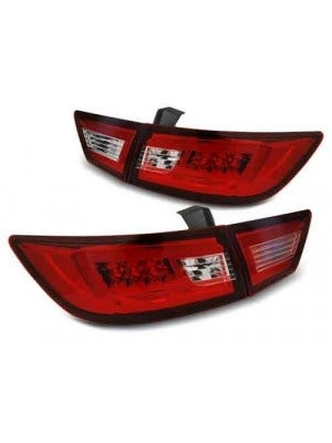 Renault Clio IV 13- RED CLEAR LED Achterlicht Unit