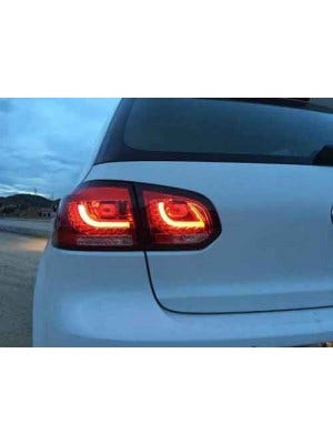 LED achterlicht unit Red Clear V2 geschikt voor VW Golf 6
