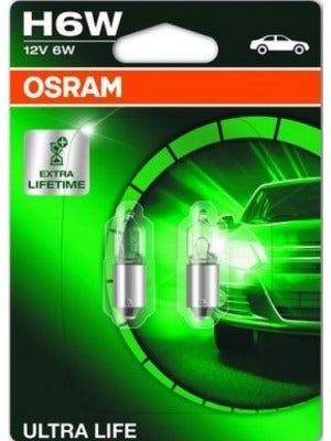 Osram Ultra Life x3 12v H6W 64132ULT-02B