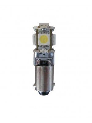 Xenon Look stadslicht motor 5 SMD LED - BA9s - oranje