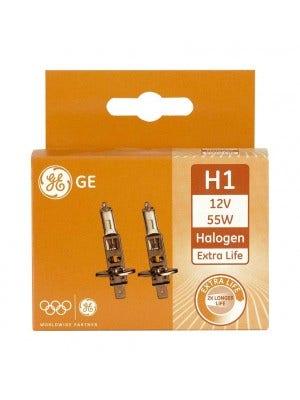 GE Halogeen Extra Life 12volt 55 watt - H1 set