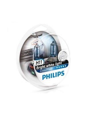 Philips Crystal Vision H11 + W5W Stadslicht