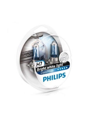 Philips Crystal Vision H7 + W5W Stadslicht