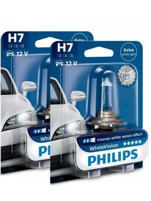 Philips WhiteVision set 4300k - H7