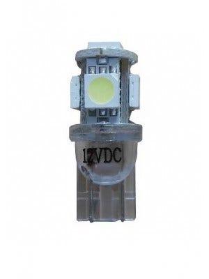 Xenon Look 5 SMD LED stadslicht motor W5W T10 - blauw