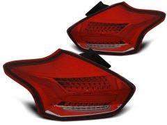 Ford Focus 3 2015 Hatchback Red White LED achterlicht units