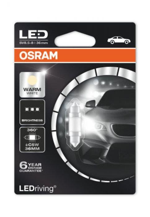 Osram LED Warm White festoon 6498ww-36mm