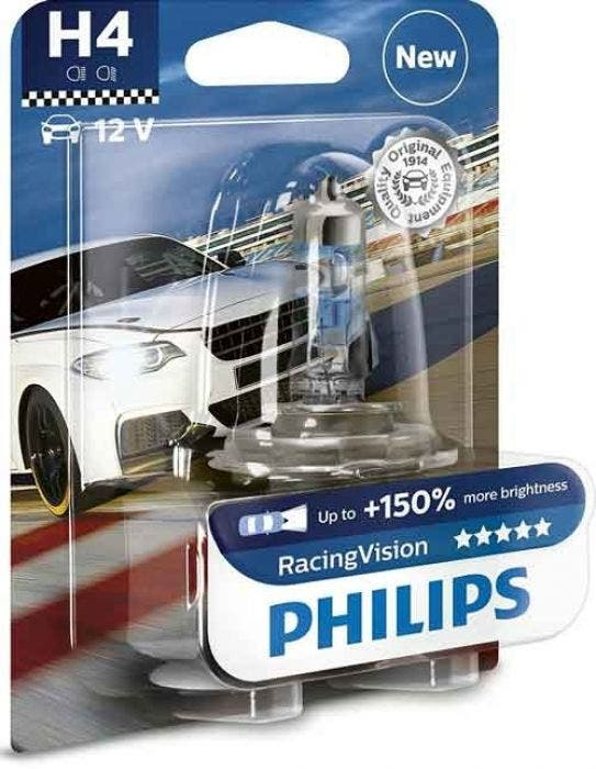 Philips H4 Racing Vision +150% Blister 1 Lamp