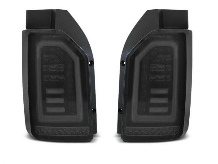 VW T6 LED achterlicht units met dynamisch knipperlicht Smoke Black White