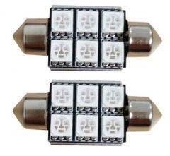 6 SMD C5W Blauw 24v Canbus LED