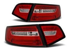 LED achterlicht units, geschikt voor Audi A6 Sedan 08-11 Red White LED Bar