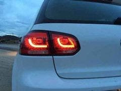 VW Golf 6 LED achterlicht unit Red Clear V2
