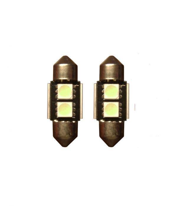 2 SMD Canbus LED binnenverlichting 31mm - groen